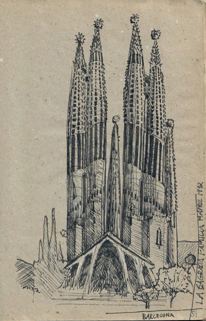 Sagrada Familia, Barcelona, 1992